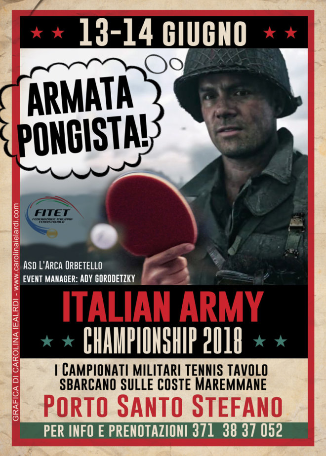 Italian Army Tennistavolo Championships 2018